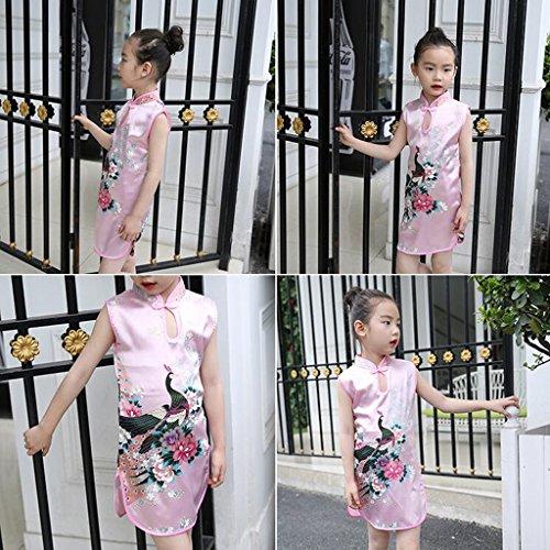 perfk Kleid Mädchen Kinder Kinderkostüm Qipao Cheongsam Geisha -