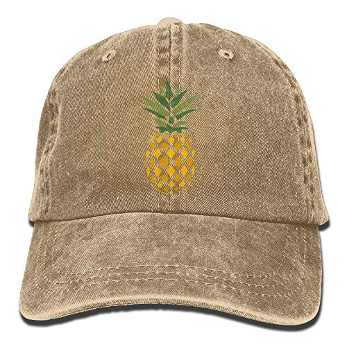 Creative Pineapple Right Down Vintage Washed Dyed Cotton Twill Low Profile Adjustable Baseball Cap Bio Washed Cotton Twill Cap