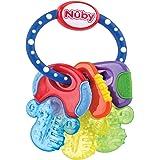 Nuby Baby Speelgoed Koelbijtsleutels met 3 sleutels, voor 3 keer langer actieve koude, voor baby's vanaf 3 maanden, blauw