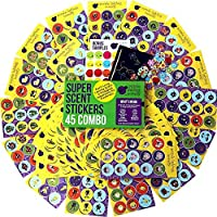 Purple Ladybug Novelty 675 Scratch and Sniff Stickers For Kids & Teachers Mega Variety Pack,, with 15 Different Scented Sticker Intense Smells, Awesome Reward Stickers for Children!