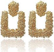 Jewels Galaxy Gorgeous Handcrafted Geometric Dangle Earrings For Women/Girls
