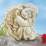 Unbekannt Engel Sehnsucht, tröstende Botschaft Engel Sehnsucht Grab Friedhof Wetterfest Grabfigur Grabengel