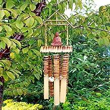 Campane eoliche in bambù 6 tubi medio con buddha. ATMOSFERA ZEN FENG SHUI