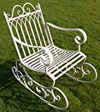 Victorian Style Metal Garden Rocking Chair In A Shabby Chic Finish