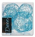 Drahtbälle Set 10 tlg.: 1x8 cm + 3x5 cm + 6x3 cm. Farbe FRESH BLUE-87