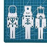 WOZOW Scrapbooking Stanzschablone Karikatur Stanzen Schneiden Schablonen Stanzformen für Cricut Cuttlebug und andere Stanzmaschine (A Nussknacker Soldat)
