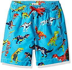 Hatley Little Boys Swim Trunks, Roaring T/Rex, 7