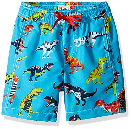 Jungen Gefüttert Swim Trunk (Hatley Jungen Swim Trunks Badeshorts, Blau (Roaring T-Rex 400), 8 Jahre)