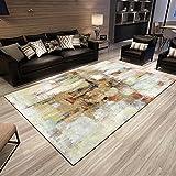 BAGEHUA Maßgeschneiderte Kunst Geometrische Teppich Wohnzimmer Couchtisch Teppich Schlafzimmer Nacht Eingangshalle Matte Waschen, 140 × 200 cm, Pa002