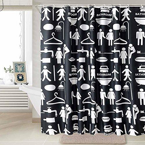 kusun-wasserabweisender-stoff-duschvorhang-waschbar-anti-schimmel-180-x-200cm-100-polyester-schwarze