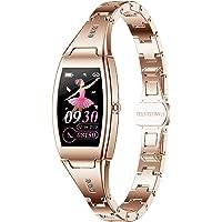 jpantech Smartwatch Damen, 1.14 Zoll Touch-Farbdisplay Fitness Armbanduhr mit Pulsuhr Fitness Tracker IP67 Wasserdicht…