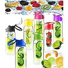 Gran infusión de fruta de 800 ml infusión de Infuser jugo botella de agua Deportes Salud (ROJO)