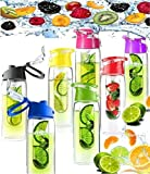 Large 800ML Fruit Infusion Infusing Infuser Juice Water Bottle Sports Health RED
