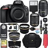 #10: Nikon D5600 24.2MP DX-Format DSLR Camera + AF-S 18-140mm & 55-300mm ED VR Lens + Accessory Bundle