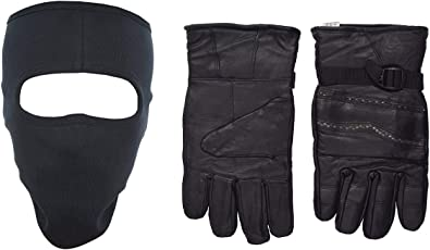 H-Store Balaclavas Mask Unisex Lycra Face Mask Grey Filter Anti Pollution Dust Sun Protecion Face Cover Mask With Black Winter Gloves/ Bike Gloves/ Biker Gloves/ Motorcycle/ Bike Racing/ Riding/ Gym / Fitness / Full Fingers Gloves Best Grip For Men Women