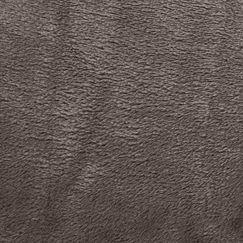 prezzo AmazonBasics – Coperta Vellutata in Pile, 167,64 x 228,6 cm, colore Grigio