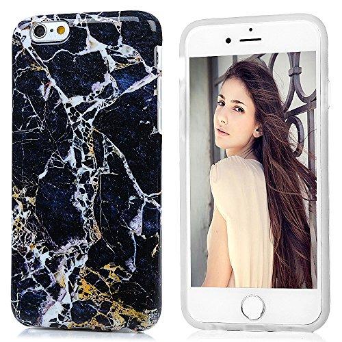 iPhone 6 6s Hülle (4,7 Zoll) Mavis's Diary 3x Case Marmor Muster TPU Softcase Silikon Back Cover Tasche Schutzhülle Anti-Scratch Telefon-Kasten Handyhülle Handycover Bumper Fall Euit SET--2