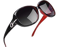 Joopin Occhiali da Sole da Donna Polarizzati Grandi Protezione UV400 Vintage Retrò Designer Oversize Occhiale Donna da Sole