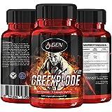 Creexplode - 120 Kapseln - 30 Tage Anwendung - Creatin Matrix + L-Taurine - Unterstützung Muskelaufbau + Kraft