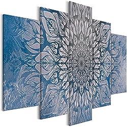 murando - Cuadro acústico Mandala 200x100 cm - decoración de Pared - Lienzo 5 Piezas - Cuadros XXL - Panel de Pared - Silencio - Oriente p-A-0029-b-p