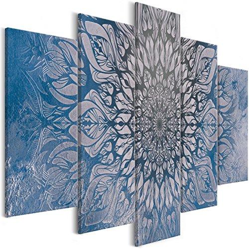 murando - Cuadro acústico Mandala 200x100 cm - decoración de pared - aislamiento acústico - lienzo de tejido no tejido - absorción de sonidos - 5 piezas - Cuadros XXL - absorbentes acústicos - panel de pared - silencio – Oriente p-A-0029-b-p