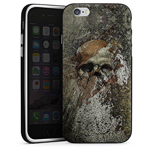 Apple iPhone X Silikon Hülle Case Schutzhülle Skull Totenkopf Bones Silikon Case schwarz / weiß