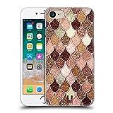 Head Case Designs Rose-Gold Meerjungfrau Waage Muster Ruckseite Hülle für iPhone 7 / iPhone 8