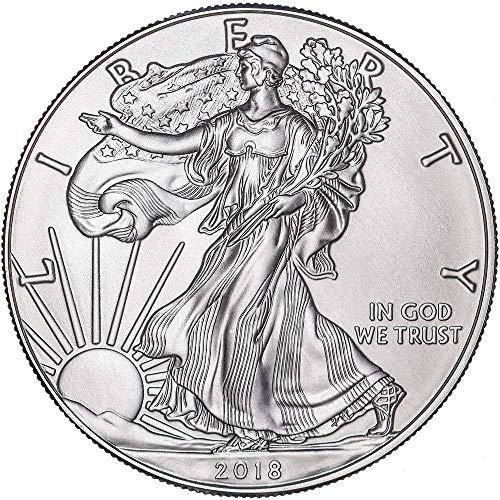 2018 American Silver mit Airtite Halter Silver Dollar Brilliant unzirkuliert