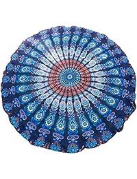 Große Auswahl Brandneu 2017 Sarong Pareo Wickelrock Standtücher Schals Handtuch in Rund im trendigen Mandala Vintage Look Design by EL Vertriebs GmbH