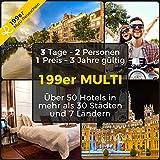 Reiseschein Vale de Viaje - 199 Multi 3 días de Vacaciones Cortas en un Lugar de más de 50 hoteles en más de 30 Ciudades & 7 países - Vale de Hotel para Viajes Cortos