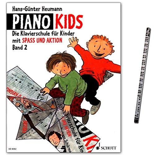 Piano Kids 2 - Klavierschule für Kinder mit Spaß und Aktion in einer überarbeiteten Neuausgabe - Schott Music - ED8302-9783795751630