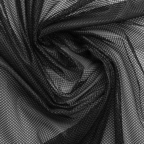 www.aktivstoffe.de Netzfutter - Innenfutter - Bekleidungsfutter - Mesh - Stoff - Meterware - 100% Polyester (Schwarz)