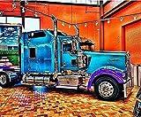 Terry King Truck 5D DIY Diamond Pittura Kit Strass Cross Punto Pieno Resina Incollata Mosaico Un Veicolo Camion Immagine Artigianato Camera Decorazione Per Numero Kit, Squarediamond, 50 * 40Cm
