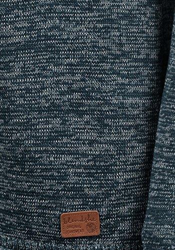 BLEND SHE Daniela Damen Strickpullover Feinstrick mit Rundhalsausschnitt aus hochwertiger Baumwollmischung Meliert Navy (70230)