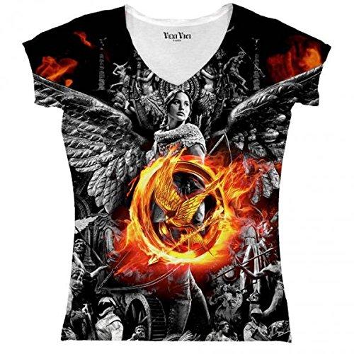 Veni Vici T-Shirt Ladies Hunger Games - Bunt - L