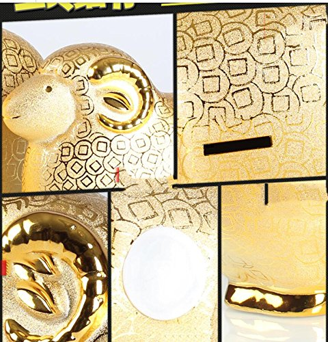 Sternzeichen schafe sparen geld topf ornamente oversized keramik piggy bank kinder golden sheep save pot-B
