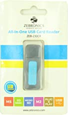Zebronics Zeb-230Cr All In One Card Reader (Blue)
