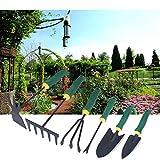 Gartengeräte Set,Hakkin,Garten Werkzeug Gartenpflege Gartenschaufel Pflanzen Blumen Hacke Rechen Gärtnerspaten Gartenwerkzeug Set