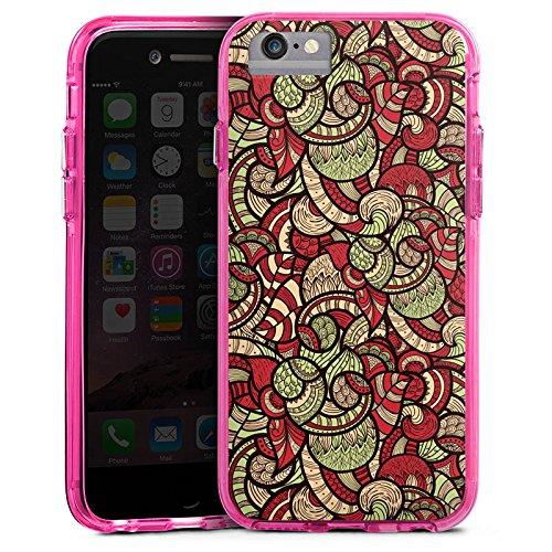 Apple iPhone 6s Plus Bumper Hülle Bumper Case Glitzer Hülle Kreise Orientalisch Oriental Bumper Case transparent pink