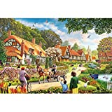 Image for board game Puzzle House Wooden Jigsaw Puzzle, Memory Of A Harmonious Town, 500/1000 Pieces Puzzles Game For Adults & Kids,Decorative Painting 504 (Size : 1000pc)