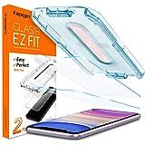 Spigen, 2 Stück, Panzerglasfolie kompatibel mit iPhone 11, iPhone XR, Glas.tR EZ Fit, mit Schablone für Installation, 9H gehärtes Glas, Hüllenfreundlich, Schutzfolie für iPhone 11 (064GL25166)