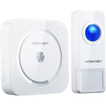 Campanello Senza Fili VICTSING Campanello Wireless Impermeabile IP55 Funziona Fino a 300m, Indicatore LED, 52 Suonerie 4 Volumi Regolabile, Doorbell da Esterno. 1xTrasmettitore e 1x Ricevitore