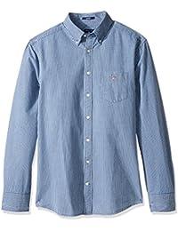 GANT Men's Slim Oxford Mini-Plaid Shirt