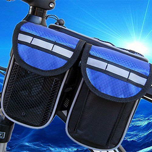 FAN4ZAME Fahrradtasche Fahrradverleih Vorderachse Fahrradverleih Vorderseite Outdoor Reiten Strahl Tasche Blue