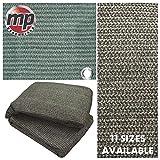 MP Essentials Tapis de sol tissé pour tente et auvent, anti-moisissure et résistant aux intempéries - vert et gris, Vert/gris, 2.5 x 2.5m