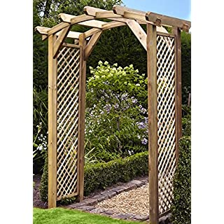 Anchor Fast Curved Lattice Large Wooden Garden Arch - !!! SALE !!!