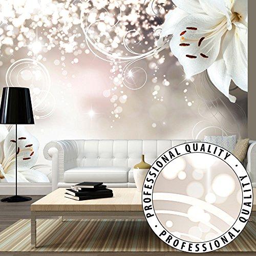FOTOTAPETE VLIES PREMIUM: 350x245 cm (BxH) - bedruckt auf deutscher Premium Vliesleinwand - Keine Papiertapete ! - 3 Farben zur Auswahl - Top - Tapete - Wandbilder XXL - Wandbild - Bild - Fototapeten - Tapeten - Wandtapete - Wand - Blumen Lilien Abstrakt Ornament Bokeh b-A-0012-a-b