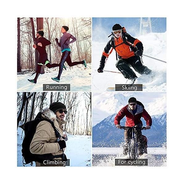otumixx Cappello Uomo Invernale Beanie Cappello in Maglia con Sciarpa, 2 Pezzi Berretto Uomo Invernali con Fodera in… 3 spesavip