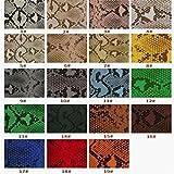 Hongma Lederstoff Python Muster PU Leder A4 Größe 11.4 x