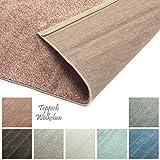 Designer-Teppich Pastell Kollektion | Flauschige Flachflor Teppiche fürs Wohnzimmer, Esszimmer, Schlafzimmer oder Kinderzimmer | Einfarbig, Schadstoffgeprüft (Rosa Rose, 40 x 60 cm)